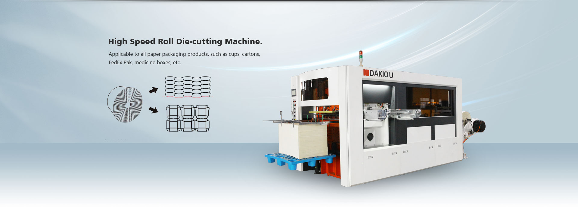 Automatic High Speed Roll Die Punching Machine